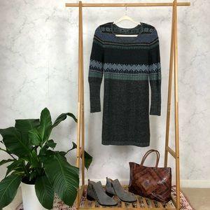 Peruvian Connection Blue Alpaca Wool Sweater Dress